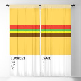 Pantone Food - Hamburger Blackout Curtain