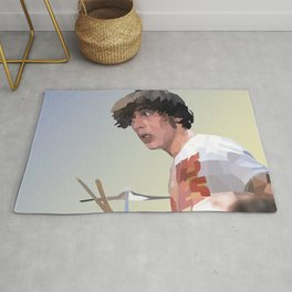 Low Polygon Portrait of Keith Moon Rug