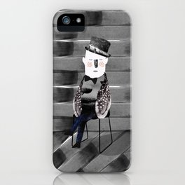 Mr. Feather illustration iPhone Case