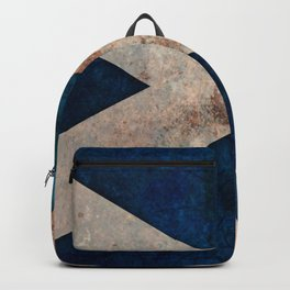 A grunge looking distressed Scottish flag Backpack