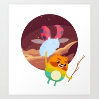 catbug Art Prints featuring Impossibug by badOdds