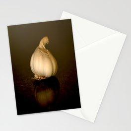 Garlic on Dark Background #decor #society6 #buyart Stationery Cards