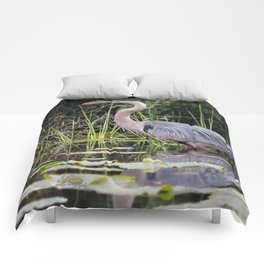Heron pose in the channel Comforters