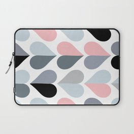 Love and Kisses in Pink and Grey Laptop Sleeve