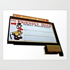 Friendly Duck Art Print