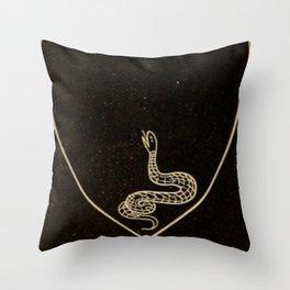 Snake Heart Throw Pillow