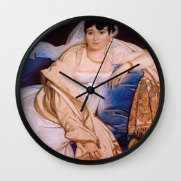 "Jean-Auguste-Dominique Ingres ""Madame Riviere"" Wall Clock"