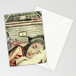 Lado being adviced by her mother  (Siberian Tale) Stationery Cards