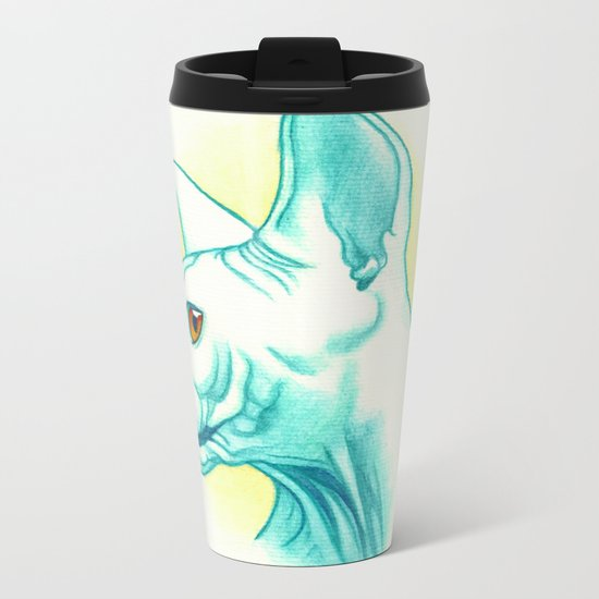 Sphynx cat #01 Metal Travel Mug