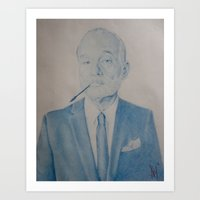 bill murray Art Prints featuring Bill Murray by prestone85