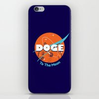 nasa iPhone & iPod Skins featuring Doge Nasa Variant (To The Moon!) by Tabner's