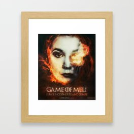 Game Of Meli Framed Art Print
