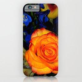 Blue Nights & Orange Skies iPhone Case