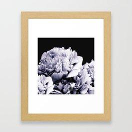Peony Flower Bouquet Black and White #decor #society6 #buyart Framed Art Print