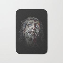 Jesuschrist Face Dark Poster Bath Mat