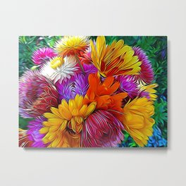 Fall Bouquet for Peace by Mandy Ramsey Metal Print