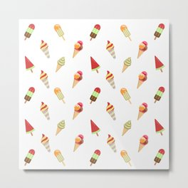 Ice Cream Collections Metal Print