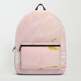Rose Gold Marble Burst Backpack