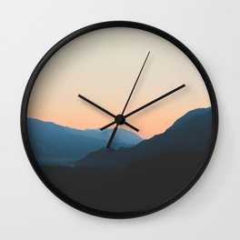 West Coast Sunset Wall Clock