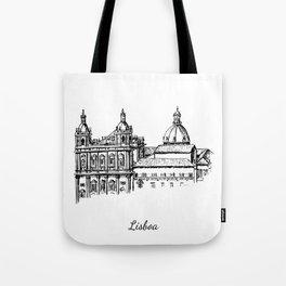 Lisboa monastery Tote Bag