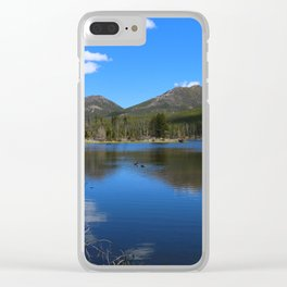 Sprague Lake And Cloud Reflection Clear iPhone Case