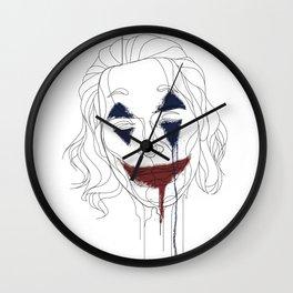 Joker Line Art Portrait Wall Clock