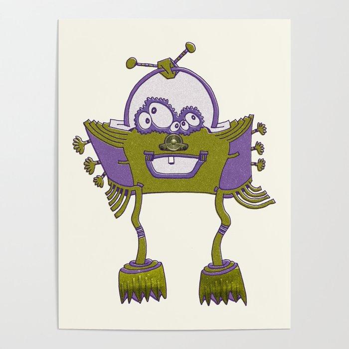 Robot Alien Monster No 092 Poster