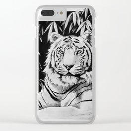 Endangered White Tiger Clear iPhone Case