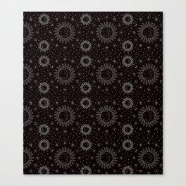 Celestial Zodiac Symbols - Black/White Canvas Print