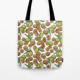 cheeky walnuts pattern Tote Bag