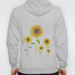 Sunflowers Watercolor Painting Hoody