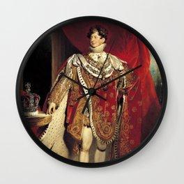 King George IV 1821 portrait Wall Clock
