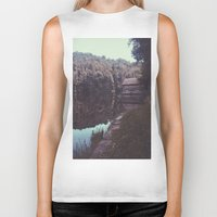 cabin Biker Tanks featuring Julia Cabin by Noah Loethen