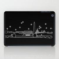 washington dc iPad Cases featuring Washington DC City Skyline by Architette Studios