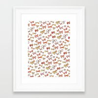 bows Framed Art Prints featuring Bows by Jen Gottlieb