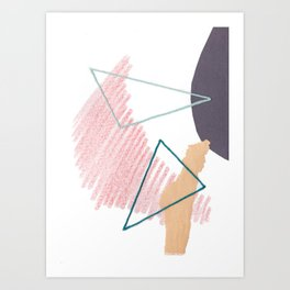Stitched Abstraction #4 Art Print