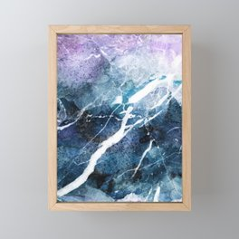 Purple abstract marble Framed Mini Art Print