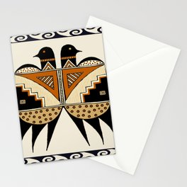 Mimbres Twin Birds Stationery Cards