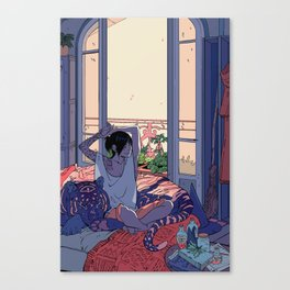 Witch and the Night and Day tiger Canvas Print