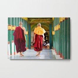 Monaci, Myanmar Metal Print