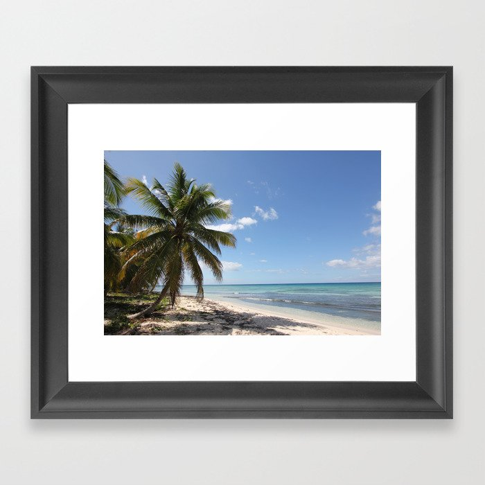 Isla Saona Caribbean Paradise Beach Framed Art Print by Christine aka stine1