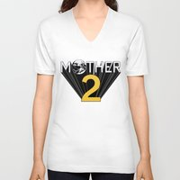 earthbound V-neck T-shirts featuring Mother 2 / Earthbound Promo by Studio Momo╰༼ ಠ益ಠ ༽