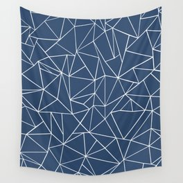 Abstraction Outline Navy Wall Tapestry