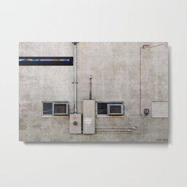 Back Alley Abstract De Sijl Metal Print