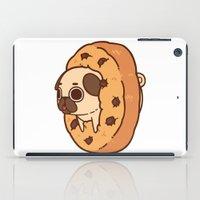 cookie iPad Cases featuring Puglie Cookie by Puglie Pug