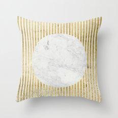 inverse gOld sun Throw Pillow