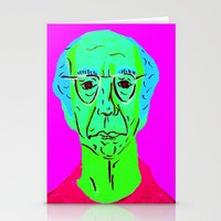 larry david Stationery Cards featuring Larry David 5 by Alyssa Underwood Contemporary Art