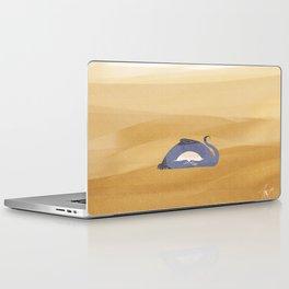 little dragon is sleeping in the sand illustration Laptop & iPad Skin