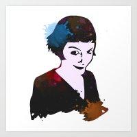 amelie Art Prints featuring Amelie by BIG Colours