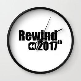 Rewind 2017 Wall Clock
